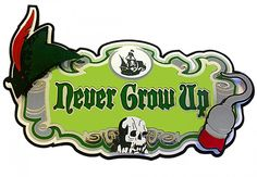 Never Grow Up! Die Cut by Paper Wizard for Scrapbooks, Cards, & Crafting This layered laser die cut measures approximately x Layered die cuts have great detail and will bring dimension to your page. Disney Scrapbook Pages, Scrapbook Titles, Scrapbooking Layouts, Scrapbook Paper, Peter Pan And Tinkerbell, Peter Pan Disney, Disney Images, Never Grow Up, Scrapbook Embellishments