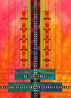 David Walker: Art Quilts - Monolith Series (reminds me of Prairie/Mackintosh-style stained glass)