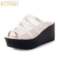 Women Wedge Sandals Summer,SIN+MON Womens Casual Boho Open Toe Thick-Bottom Sandals Hook and Loop Girls Wild Beach Sandals
