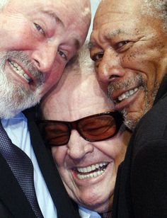 Rob Reiner, Jack Nicholson and Morgan Freeman.