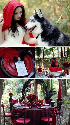 Black and red wedding theme