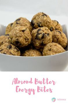 If you think about food, you probably think about snacks. Here's a super-fast, super awesome snack for when you're on the go… that's if there are any left over after you make them. Healthy Protein Snacks, Healthy Cookies, Healthy Recipes, Diet Recipes, Healthy Foods, Dog Food Recipes, Cooking Recipes, Butter Chocolate Chip Cookies, Oatmeal Cookies