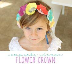 Cupcake Liner Flower Crown - Mama. Papa. Bubba.Mama. Papa. Bubba.