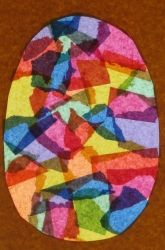 "Kindergarten Easter Activities: Catch the Sun with ""Stained Glass"" Eggs"