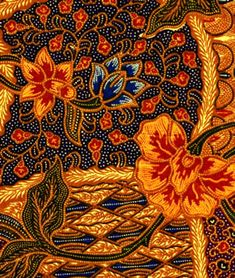 Indonesia: batiks - the kinds of designs Textile Patterns, Textile Design, Textile Art, Indonesian Art, Batik Art, Batik Pattern, Traditional Fabric, Silk Painting, Pretty Patterns