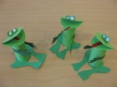 toilet-paper-roll-frog-crafts « Preschool and Homeschool Kids Crafts, Frog Crafts, Summer Crafts, Cute Crafts, Toddler Crafts, Preschool Crafts, Projects For Kids, Diy For Kids, Frogs Preschool