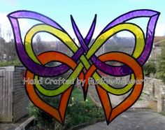 Celtic Butterfly Static Window Cling