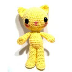 Huey the Cat - amigurumi crochet pattern by sarsel