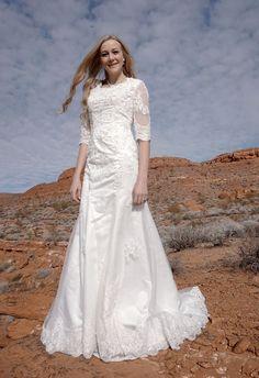 >> Click to Buy << Beaded Lace Appliques Mermaid Vintage Modest Wedding Dresses 2016 With Half Sleeves Vestidos De Novia Trumpet  robe de mariage #Affiliate