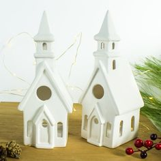 Church Candle Holder Modern Christmas decorations White image 2
