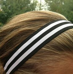 One Up Black and White Stripe
