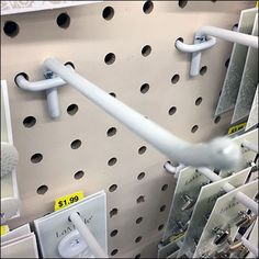 All-Wire Pegboard Hook Array Dissected Tag Store, Jewelry Hooks, Store Fixtures, Joanns Fabric And Crafts, Craft Stores, Wire, Retail, Tags, Mailing Labels