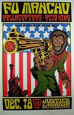 Fu Manchu Hellacopters Acid King Poster