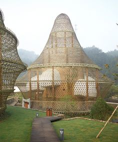 the inaugural international bamboo biennale takes place in rural china