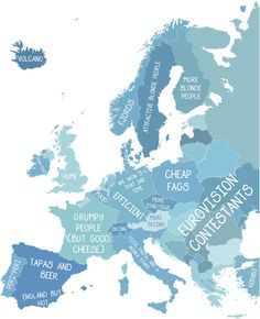 This map of Europe, as British people see it. | 12 Maps Only British People Will Find Funny