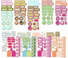 "Free Printable Scrapbook Embellishments, ""Meadows Collection"""