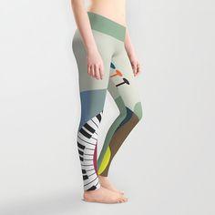 Cute Leggings, Printed Leggings, Womens Leggings, Plus Size Leggings, Music Clothing, Workout Leggings, , Active Wear, Printed Tights $50