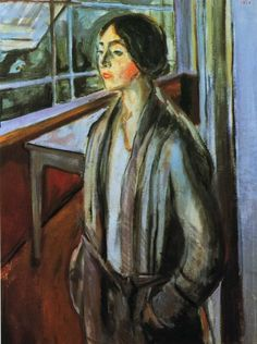 "Edvard Munch, ""Woman on the Verandah."" 1924."