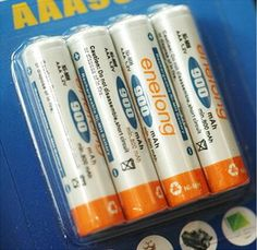 BPI AAA 900mAh 4-Pack Rechargeable Batteries UP TO 1000 TIMES Nickel-Metal Hydride (NiMH) Chemistry Voltage of 1.5V and a capacity of 900mAh Batteries can be recharged UP TO 1000 times, and because they have memory-free operation, the will not develop memory effect, which can cause batteries to hold less charge These batteries will retain a charge at or near full capacities even after hundreds of charges OUR PRODUCT CODE: LSA-RE900MAH