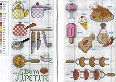 gráficos de utensilios de cozinha em ponto cruz - Bing images