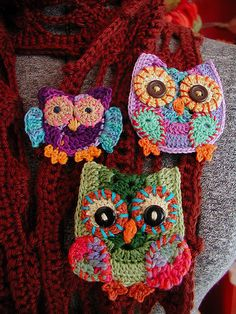 Hootie Crocheted in Embroidery Floss | por Buckster's Pics