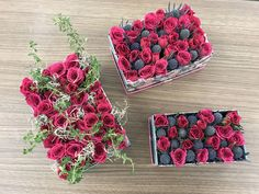 Small flowers in a box using hot pink spray roses, thistle, rosemary and thyme Spray Roses, Flower Boxes, Small Flowers, Hot Pink, Chic, Fall, Window Boxes, Shabby Chic, Autumn