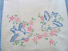 bluebird hand embroidery patterens | Cabin Creek: Hand Embroidered Bluebirds
