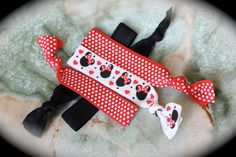 The  Classic Mickey  5 Pack of Knotted Hair Ties  by PlumPosh, $6.50