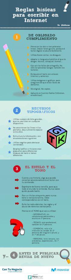 Reglas básicas para escribir en Internet #SocialMedia #Internet