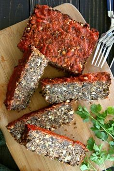 Vegan Meatloaf with Chickpeas, Green Split Peas and Mushrooms is easy and works great with mushroom gravy, bbq sauce and sliced for meatloaf sandwiches.