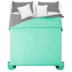 Svetlo zeleny prehoz na manzelsku postel s diamantovym vzorom Furniture, Home Decor, Home Furnishings, Interior Design, Home Interiors, Decoration Home, Tropical Furniture, Interior Decorating, Home Improvement