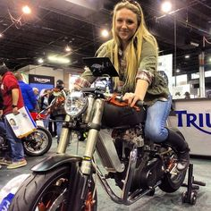 Another fan of Loaded Gun's Bucephalus at final day of Chicago Motorcycle Show. #Padgram