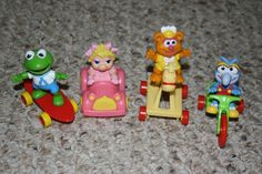 circa 1986 Mc Donalds Happy Meal Toys, Muppets