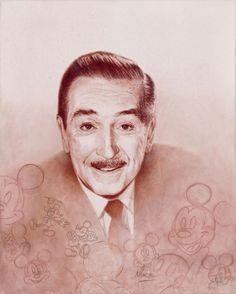 """Walt Portrait"" by Mike Kupka | Disney Fine Art | Walt Disney"