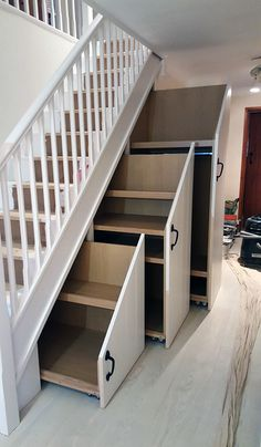 Transform a difficult under stairs space - Mark Williamson Furniture - bespoke fitted and freestanding furniture Buckinghamshire Home Stairs Design, Home Room Design, Home Interior Design, House Design, Staircase Storage, Storage Under Stairs, Desk Under Stairs, Living Room Under Stairs, Stairs And Hallway Ideas