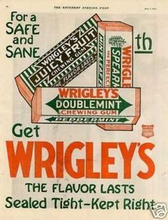 Wrigleys Chewing Gum Color (1920)