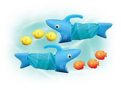 Awesome shark toy for playing in the swimming pool :)