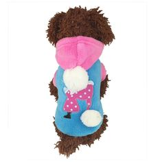 Starsource Dog Pet Puppy Cat Soft Fleece Autumn Winter Christmas Warm Sweatshirt Hoodie Shirt Jacket Coat Outwear Snow suit Clothes, S-XL Size,Blue ** Learn more by visiting the image link.