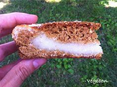 Bonjour ! Dans ma recherche de desserts gourmands à la noix de coco, j'ai découvert cette recette de gâteau à la vanille fourré d'une crème coco (voir ici pour une photo de l'intérieur), censée pla...