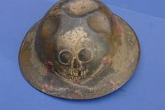 helmet with art, circa WWI. US 5th Infantry Division