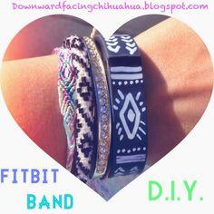Customize your Fitbit DIY. DownwardFacingChihuahua.blogspot.com