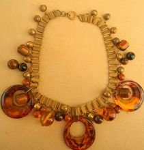 Bookchain Vintage Bakelite Charm Necklace $260