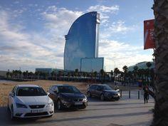 Vue sur Barcelone et les SEAT