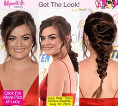 Lucy Hale's Sexy Braid & Smokey Eye — Perfect Look For Date Night #markgirl #teenchoiceawards