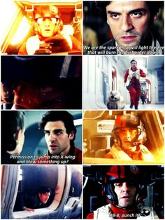 poe dameron (star wars) I can fly anything. <<< I will pin anything Poe related. #starwars #poe