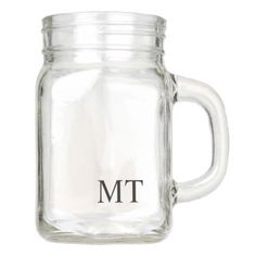 #Modern Personalized Monogram Mason Jar - #GroomGifts #Groom #Gifts Groom Gifts #Wedding #Groomideas