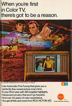 vintage everyday: Vintage Adverts for Colour Televisions