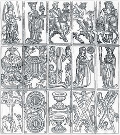 Gothic Spanish-suited cards, 15th century