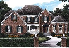 Morningside - Frank Betz Associates, Inc. | Southern Living House Plans 2970 sq ft.  Not the best flow, master on main, bedrooms upstairs