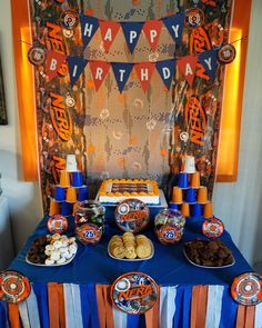 - Nerf Gun - Ideas of Nerf Gun Dessert Table Birthday, Birthday Party Tables, Birthday Party Decorations, 7th Birthday Party For Boys, 10th Birthday, Birthday Ideas, Nerf Cake, Nerf Party, Nerf Gun